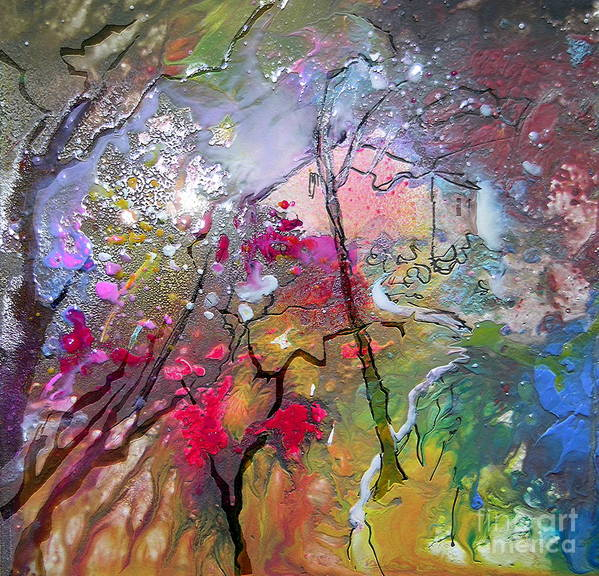 Miki Art Print featuring the painting Fantaspray 19 1 by Miki De Goodaboom