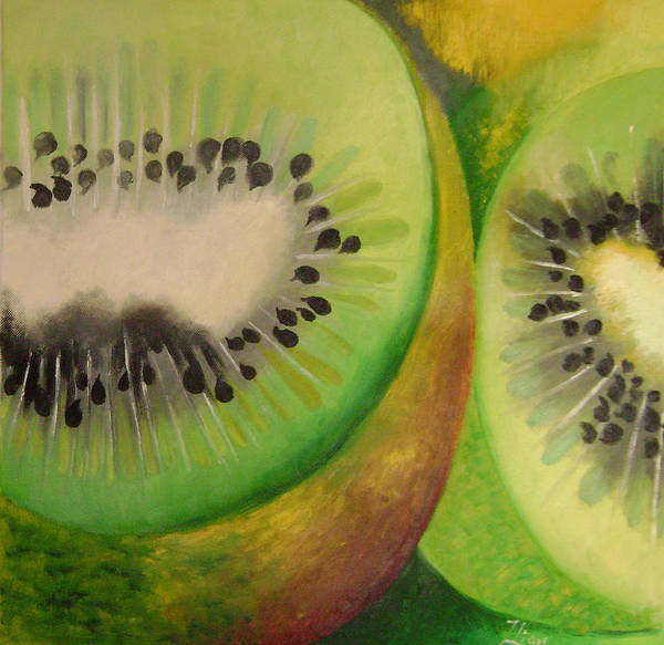 Abstract Art Print featuring the painting Green Ecstasy 2 by Lian Zhen