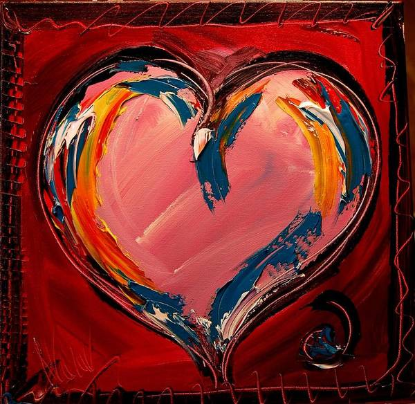 Heart Art Print featuring the painting Heart by Mark Kazav