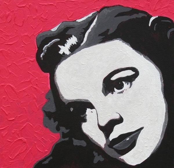 Portrait Art Print featuring the painting Judy Garland by Amy Parker