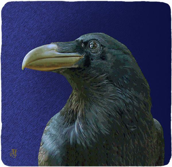 Raven As Loki The Mischief Maker. Art Print featuring the digital art Loki by John Helgeson