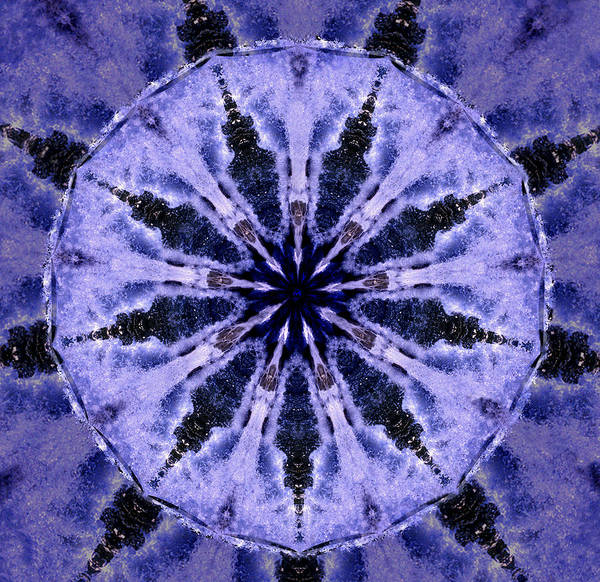 Mandala Art Print featuring the digital art Mandala Ocean Wave by Nancy Griswold