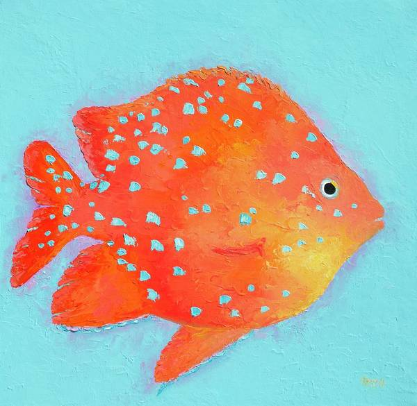 Fish Art Print featuring the painting Orange Tropical Fish by Jan Matson