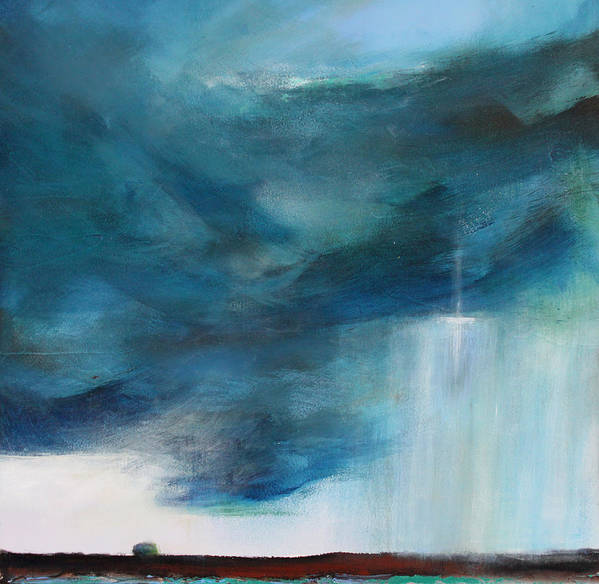 Storm Art Print featuring the painting Sign From Above by Toni Grote