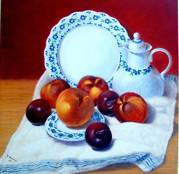 Realism Art Print featuring the painting Summer Harvest  by Donelli DiMaria