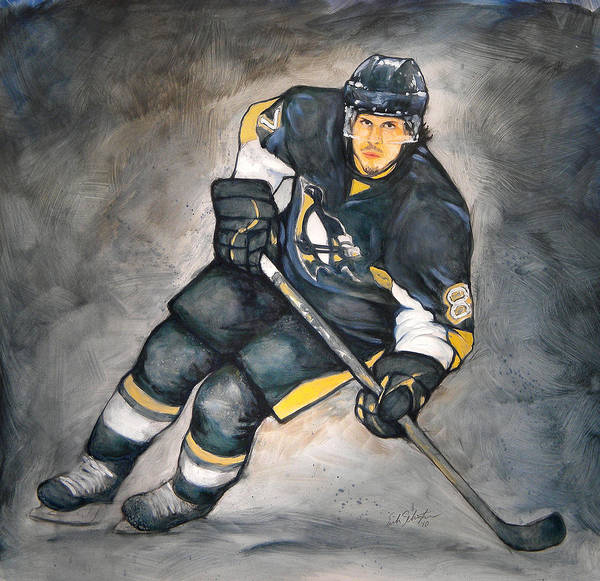 Oil Art Print featuring the painting The Look Of A Champion by Erik Schutzman