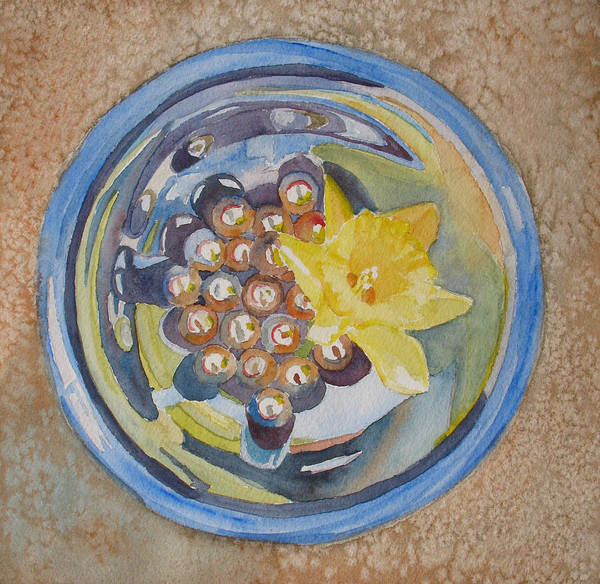 Daffodil Art Print featuring the painting The Magic Bowl II by Jenny Armitage