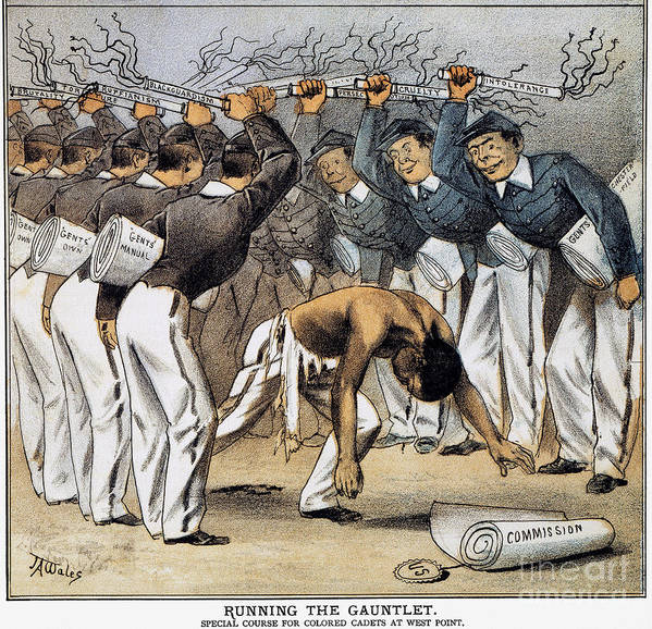 1880 Art Print featuring the photograph West Point Cartoon, 1880 by Granger