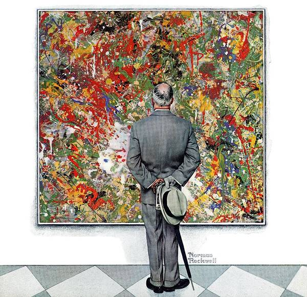 Art Art Print featuring the drawing Art Connoisseur by Norman Rockwell