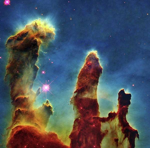 Abnormal Art Print featuring the photograph Gas Pillars In The Eagle Nebula by Nasaesastscij.hester & P.scowen, Asu