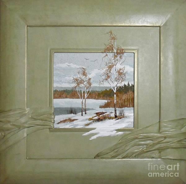 Leather Art Print featuring the painting Spring by Yakubouskaya Olga