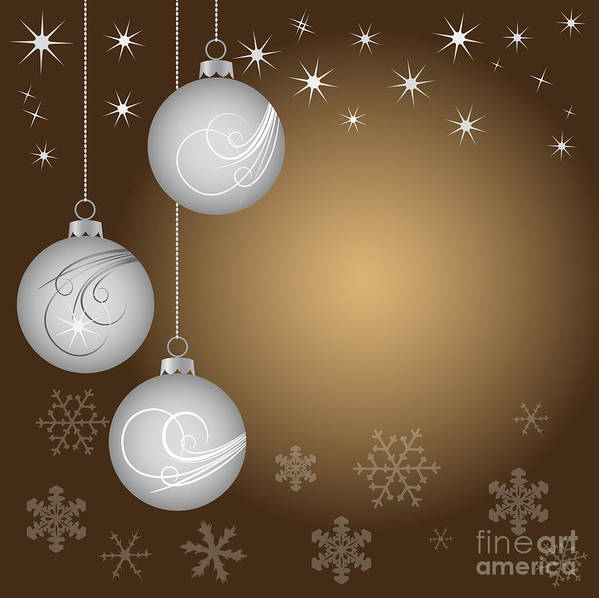 Vector Art Print featuring the digital art Christmas Background by Michal Boubin