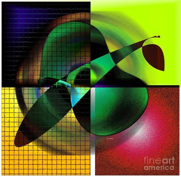 Digital Art Print featuring the digital art Apple Blur by Iris Gelbart