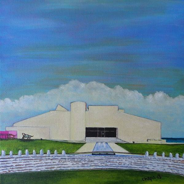 Art Print featuring the painting Art Museum Of South Texas by Manny Chapa