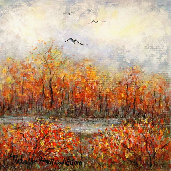 Landscapes Art Print featuring the painting Autumn Song by Natalie Holland
