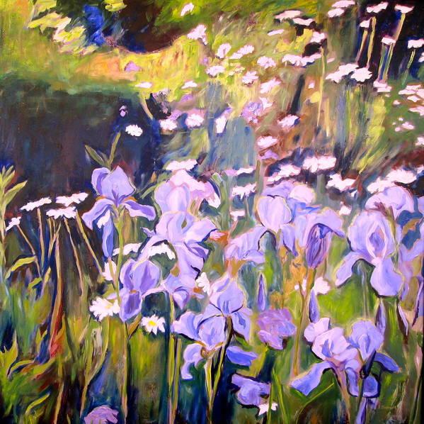 Backyard Art Print featuring the painting Backyard Garden IIi by Sheila Diemert