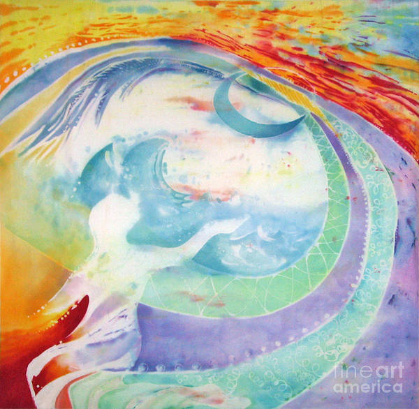 Spirituality Art Print featuring the painting Beloved  by Anna Lisa Yoder