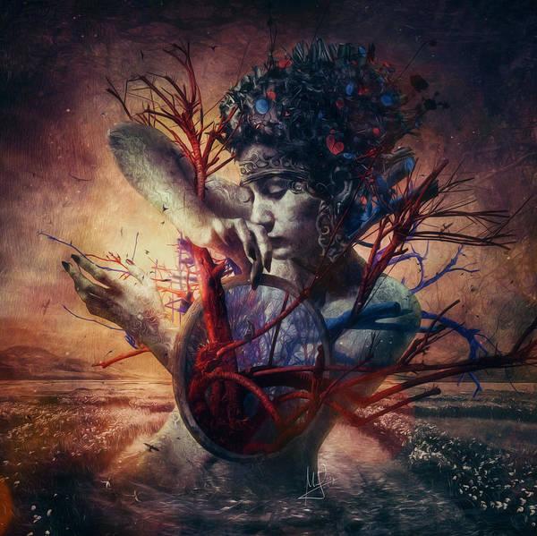 Love Art Print featuring the mixed media Blossom by Mario Sanchez Nevado