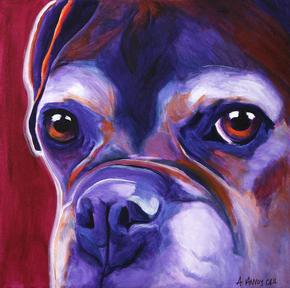 Boxer Art Print featuring the painting Boxer - Wallace by Alicia VanNoy Call