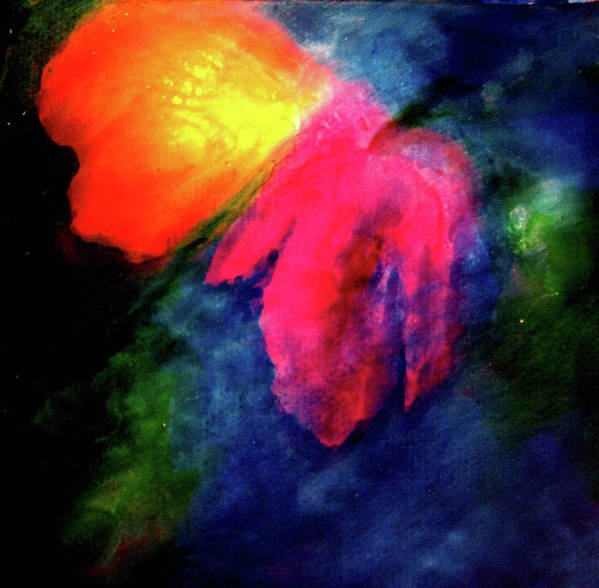 Butterfly Art Print featuring the painting Butterfly Glow by Janice Nabors Raiteri