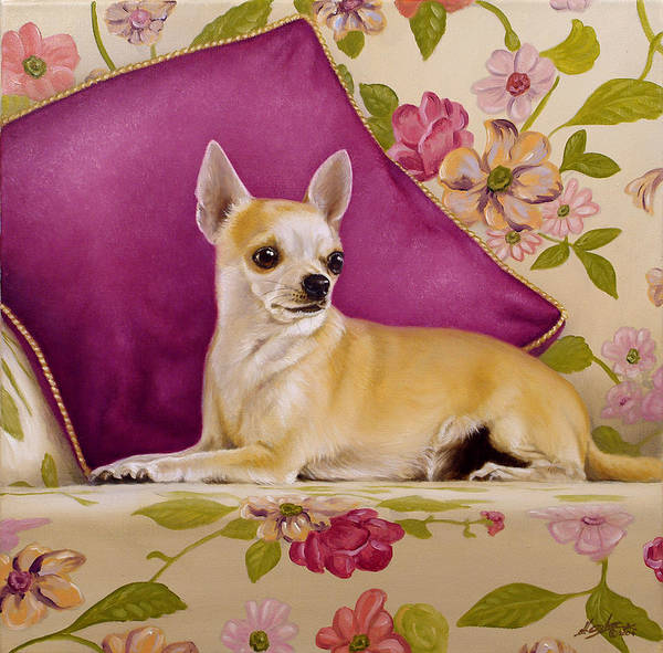 Chihuahua Art Print featuring the painting Chihuahua II by John Silver