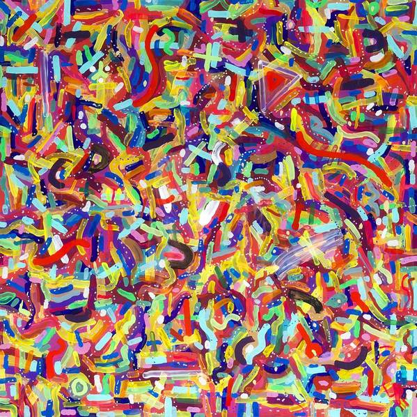 Acrylic Art Print featuring the painting Confetti by Patrick OLeary