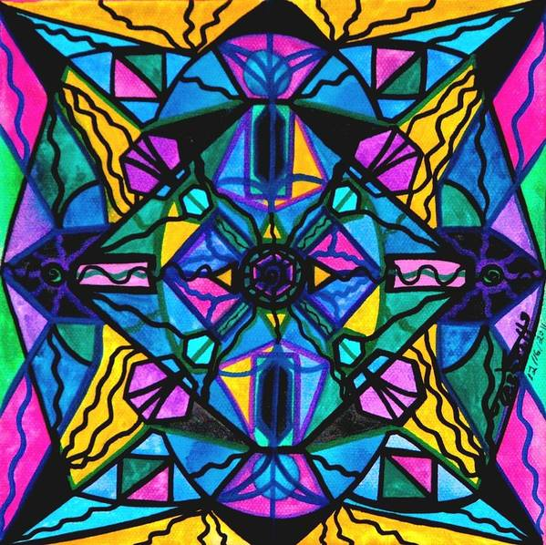 Dopamine Art Print featuring the painting Dopamine by Teal Eye Print Store