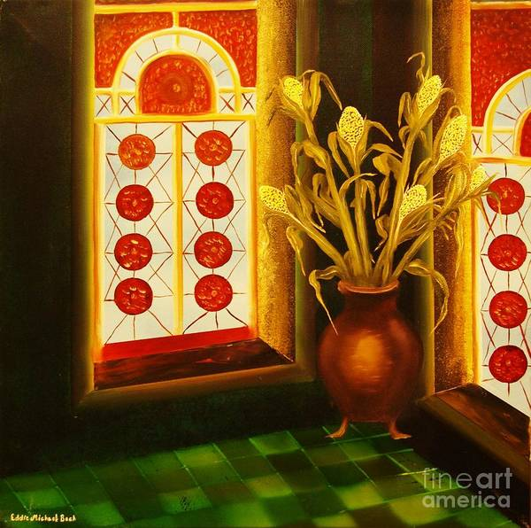 Room Art Print featuring the painting Empty Room-original Sold-buy Giclee Print Nr 23 Of Limited Edition Of 40 Prints by Eddie Michael Beck