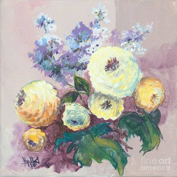 Flowers Art Print featuring the painting Floral I by Elisabeta Hermann