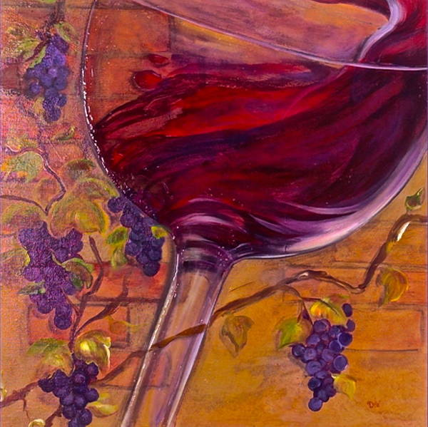 Wine Art Print featuring the painting Full Body by Debi Starr