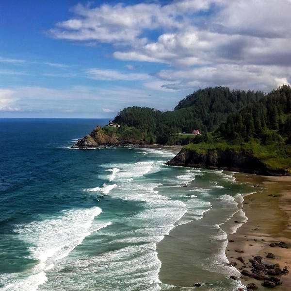 Lighthouse Art Print featuring the photograph Heceta Head by Darren White