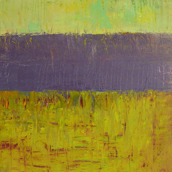 Abstract Expressionism Art Print featuring the painting Highway Series - Lake by Michelle Calkins