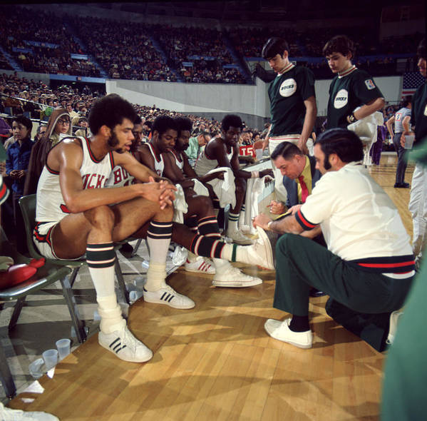 Classic Print featuring the photograph Kareem Abdul Jabbar Resting by Retro Images Archive