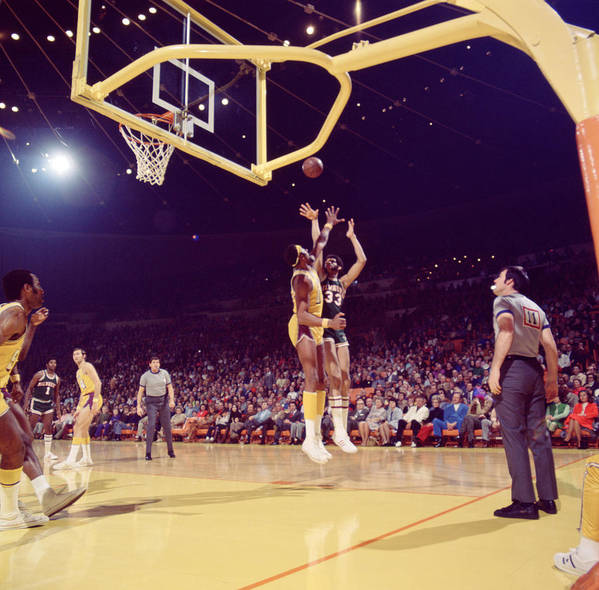 Marvin Newman Art Print featuring the photograph Kareem Abdul Jabbar by Retro Images Archive