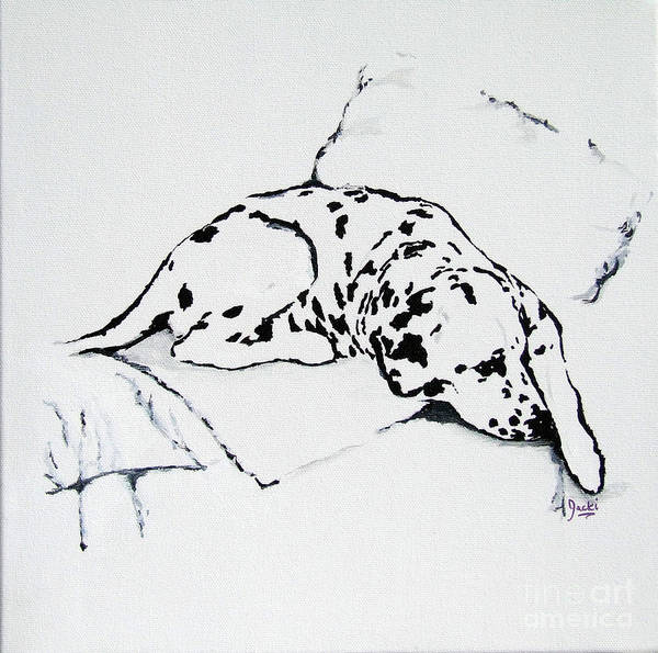 Dogs Art Print featuring the painting Lazy Day by Jacki McGovern