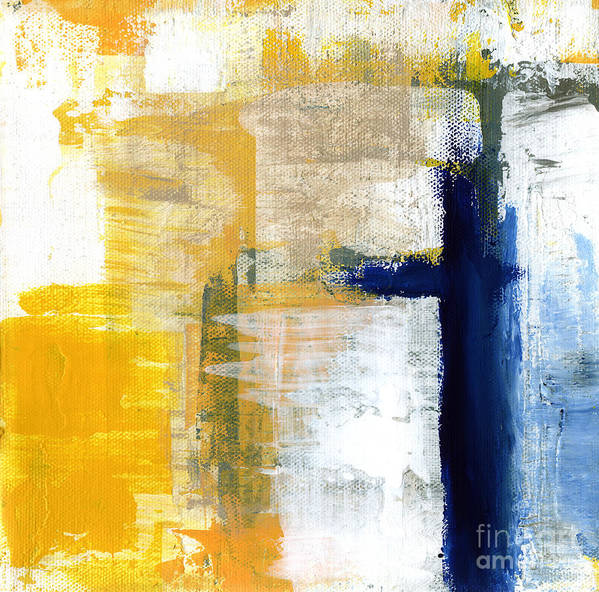 Abstract Art Print featuring the painting Light Of Day 3 by Linda Woods