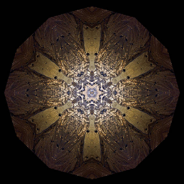 Mandala Art Print featuring the photograph Mandala Sand Dollar At Wells by Nancy Griswold