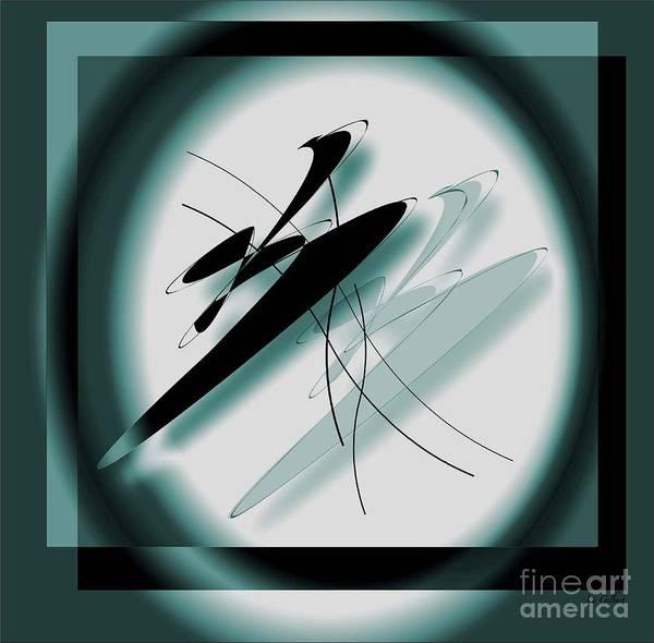 Digital Art Print featuring the digital art Motion by Iris Gelbart