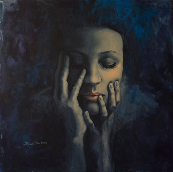 Love Art Print featuring the painting Nights In July by Dorina Costras