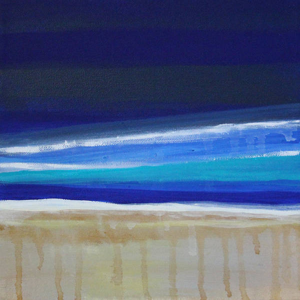 Abstract Painting Art Print featuring the painting Ocean Blue by Linda Woods