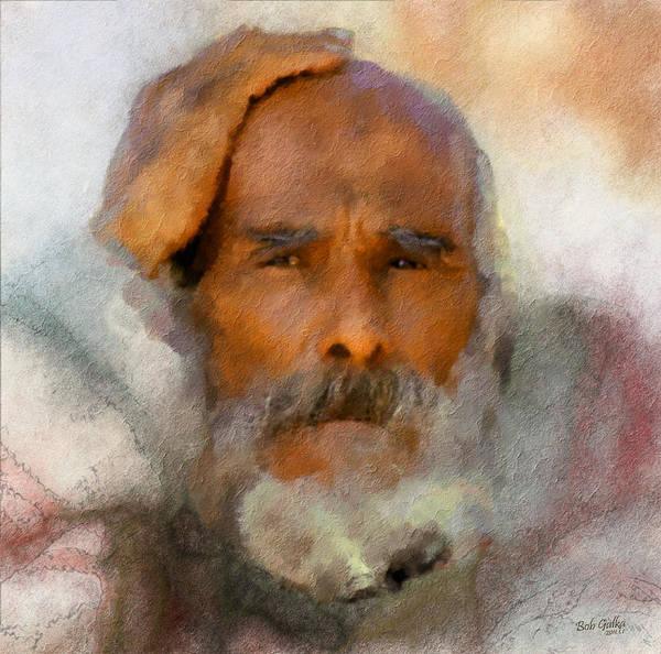 Homeless Art Print featuring the digital art Old Man by Bob Galka