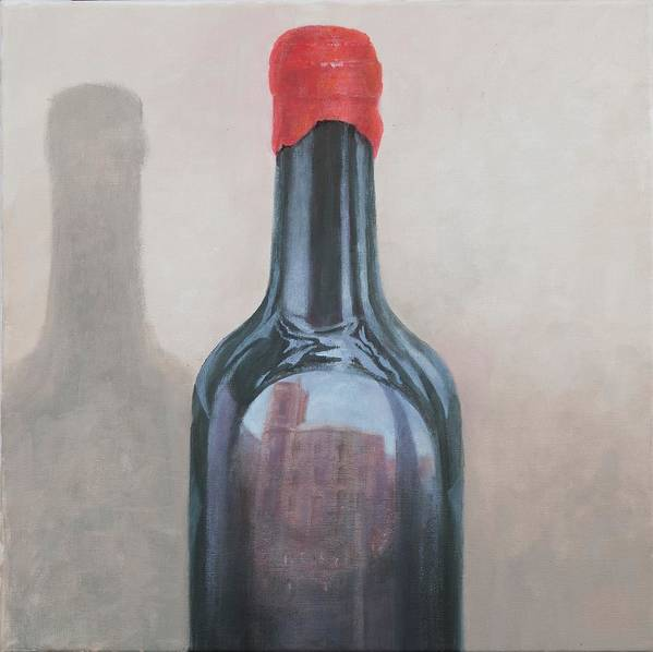 Wine Art Print featuring the painting Pienza Reflection by Lincoln Seligman
