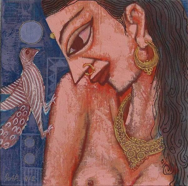 Art Print featuring the painting Portraiyal -ix by Umesh Shah