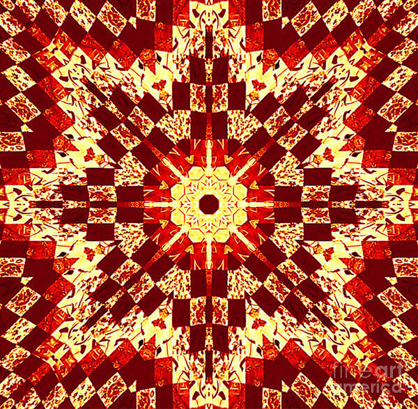 Patchwork Print featuring the photograph Red And White Patchwork Art by Barbara Griffin