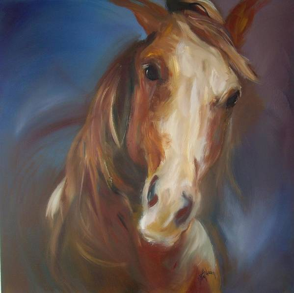 Horse Art Print featuring the painting Running Free by Debbie Anderson