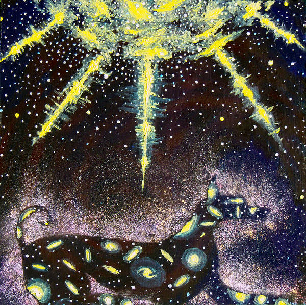 Dog Art Print featuring the painting Sirius Listening by Dennis Goodbee