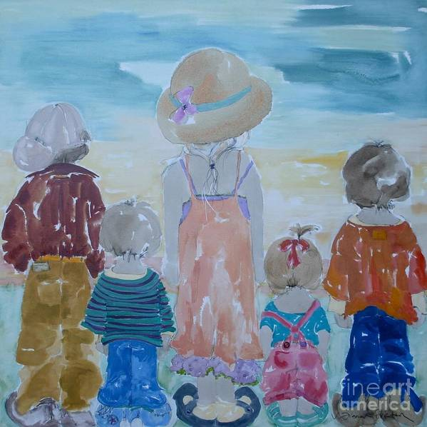 Vicki Aisner Porter Art Print featuring the painting Summer Passes As Usual by Vicki Aisner Porter