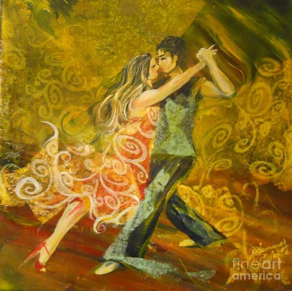 Tango Art Print featuring the painting Tango Flow by Summer Celeste