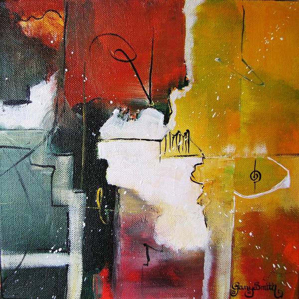 Abstract Artwork Art Print featuring the painting The Spirit by Gary Smith