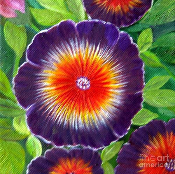 Flowers Art Print featuring the painting Wild Flower by Usha Rai